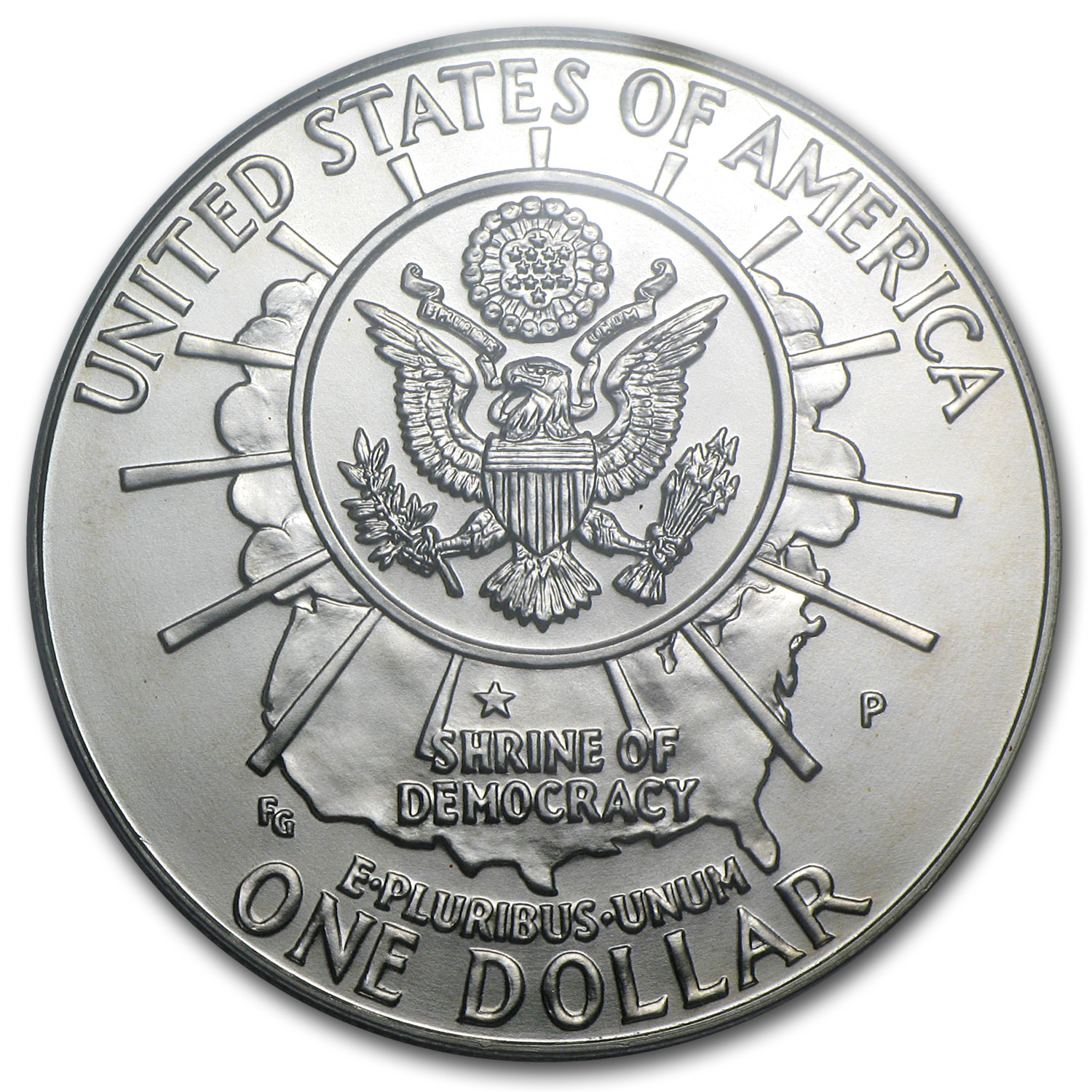 1991-P Mount Rushmore $1 Silver Commemorative - MS-69 PCGS
